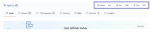 npm GitHub activity popularity