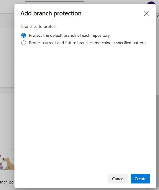 Azure DevOps add branch protection