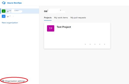 Azure DevOps organization settings