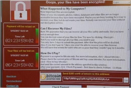wanna ransomware screenshot