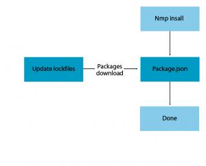 the npm install process